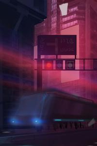 1440x2560 Anime Original City Train