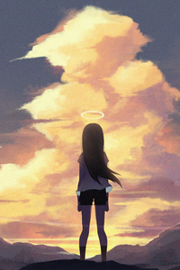 1080x1920 Anime Original Girl Art 5k