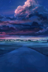 720x1280 Anime Road To City Everlasting Summer 4k