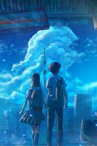1080x1920 Anime School Couple