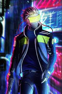 1080x2280 Anime Scifi Ninja 4k