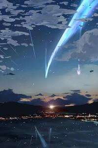 750x1334 Anime Sky 4k