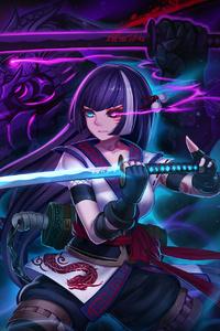 1080x2160 Anime Warrior Girl