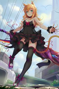 Anime Women Sword 8k
