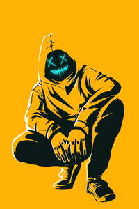 Anonmyus Boy Yellow Minimal 4k