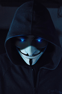 1080x2280 Anonymus Guy Blue Eyes 5k
