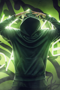 2160x3840 Anonymus Guy Green Powers 4k