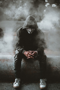 Anonymus Guy Smoke 4k