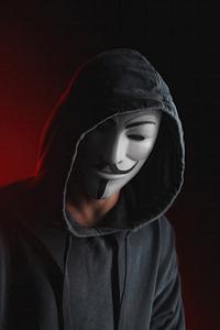 Anonymus Guy White Mask Hoodie 4k
