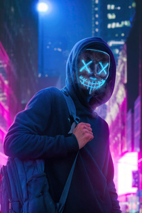 1242x2688 Anonymus Guy With Bag 4k