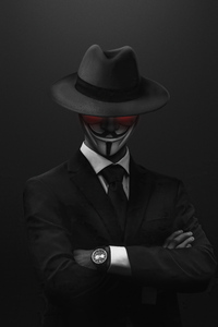 Anonymus Hat Guy 4k