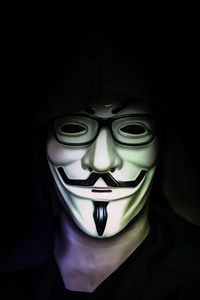 800x1280 Anonymus Mask Guy 5k