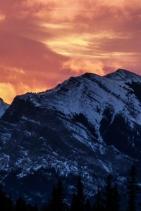 1242x2688 Another Firey Sunrise In The Canadian Rockies