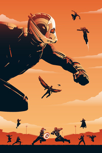 1280x2120 Ant Man Civil War Poster Art