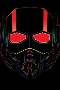 Ant Man Mask Minimalism 4k