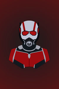 1242x2688 Ant Man Minimalism 12k