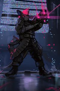 1125x2436 Anthro Scifi Gun 4k