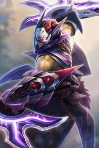 640x1136 Anti Mage Warrior DOTA 2 4k