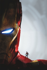 Antman On Iron Man Shoulder