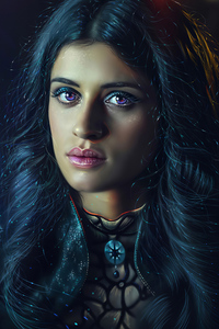 240x320 Anya Chalotra As Yennefer In Witcher Art