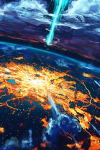 Apocalypse Cosmos Disaster Explosion World