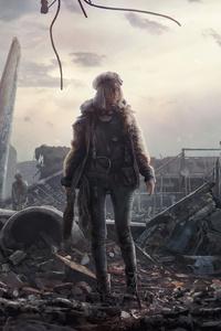 Apocalypse Warrior Girl 4k