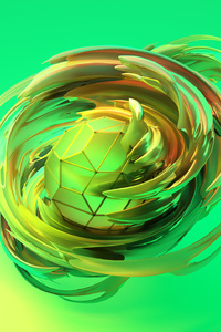 Apple Abstract 3d