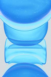 Apple Blue Bubbles 4k