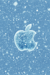 Apple Christmas Winter Logo 4k