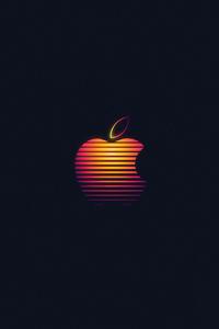 1080x2160 Apple Glowing Logo 4k