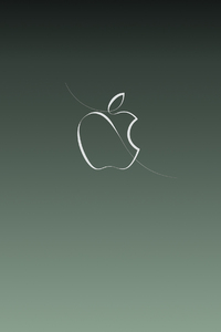 320x480 Apple Green Logo Background 4k