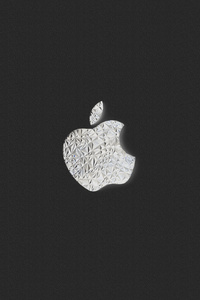 480x854 Apple Logo Bw