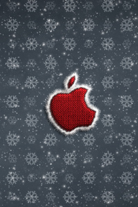 320x480 Apple Logo Christmas Celebrations 4k