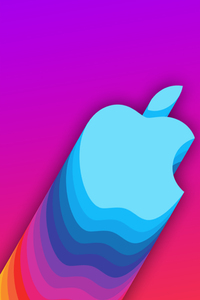 1280x2120 Apple Logo Material 8k