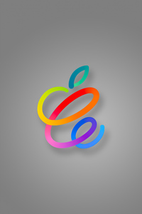 1080x2160 Apple New Logo 4k