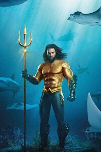 240x320 Aquaman 5k Movie Poster