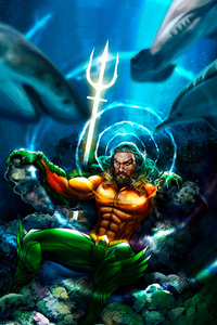 540x960 Aquaman 8k Art