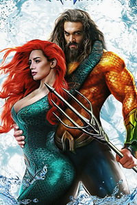 Aquaman And Mera Art