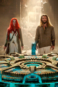 1080x2280 Aquaman And Mera Still From Movie