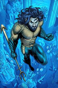 1440x2960 Aquaman Dccomic Fanart