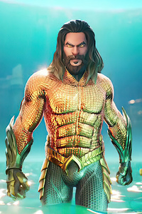 1125x2436 Aquaman In Fortnite