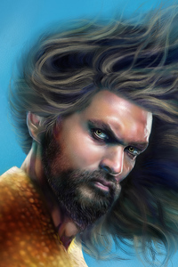 Aquaman Jason Momoa Art