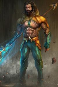 1440x2560 Aquaman Jason Momoa Artwork