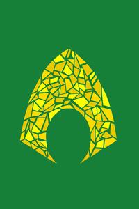 720x1280 Aquaman Logo Artwork
