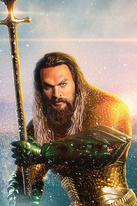 320x480 Aquaman Movie New Poster