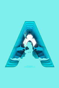 Aquaman Movie Poster In Material Design