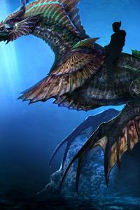 1440x2960 Aquaman Sea Dragon Concept Art 10k