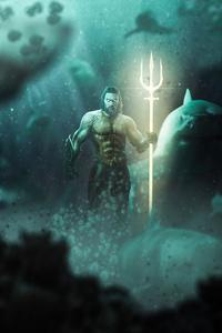 1125x2436 Aquaman Underwater 4k