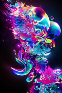 240x320 Aqueous Abstract Art
