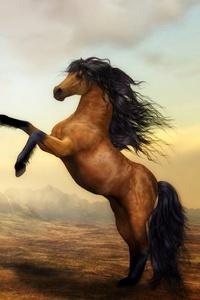Arabian Horse Artistic 4k